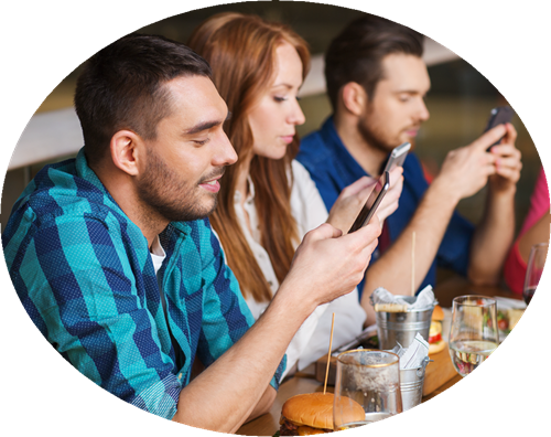 Customers on Smartphones