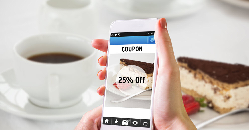 How to ensure the customer had the coupon on their smartphone
