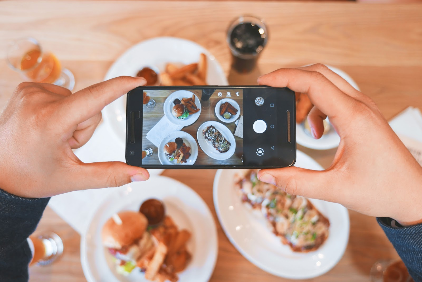 Customer taking Instagram photo